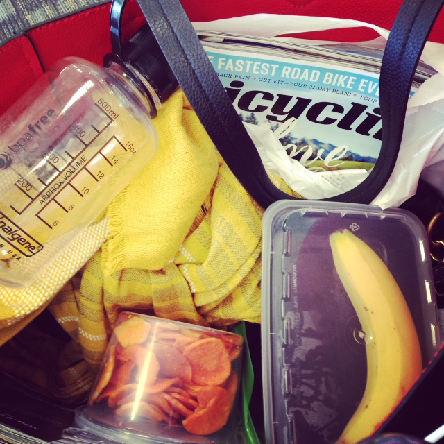 Pack your bags like you want to be ACTIVE! Include all your 'must haves' to train hard.