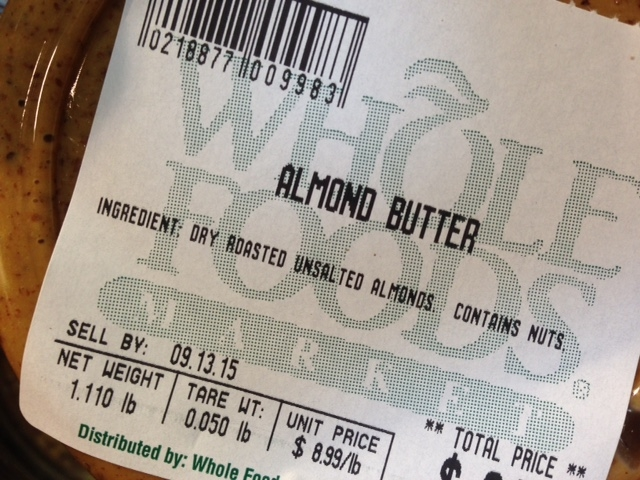 Always look at the ingredients. Nut butters only need to contain nuts!