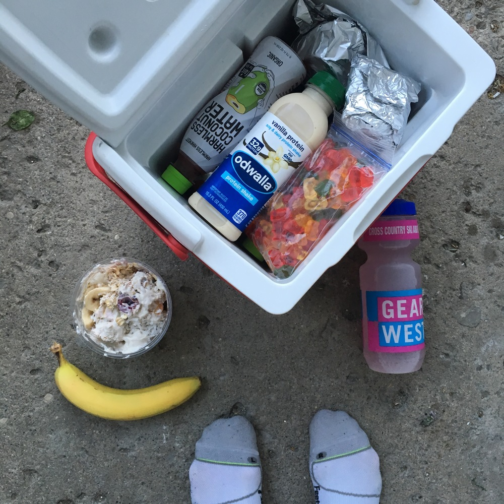 Bring food to rides!