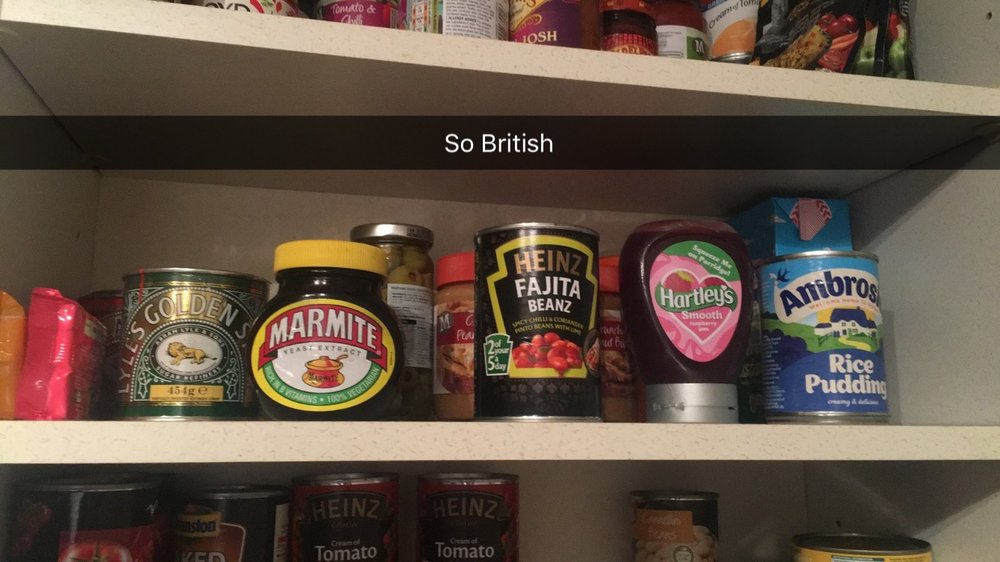 Findings of an English pantry