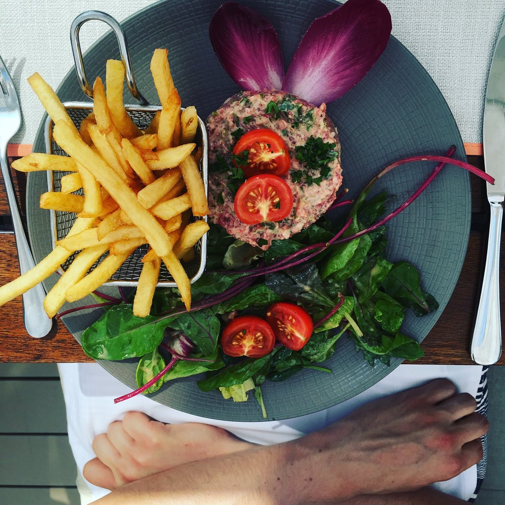 Steak Tartare was a common menu item in France.