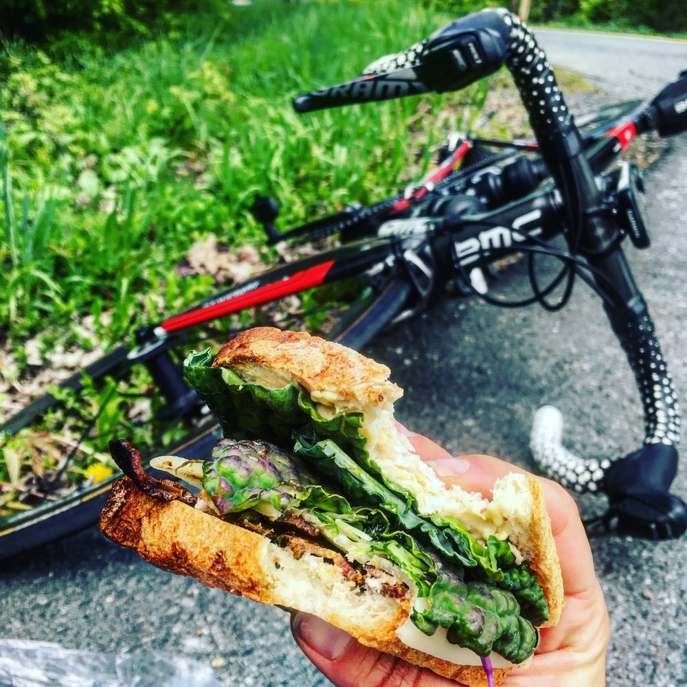 Stayed fueled mid training rides with Canyon Bakehouse Sandwiches