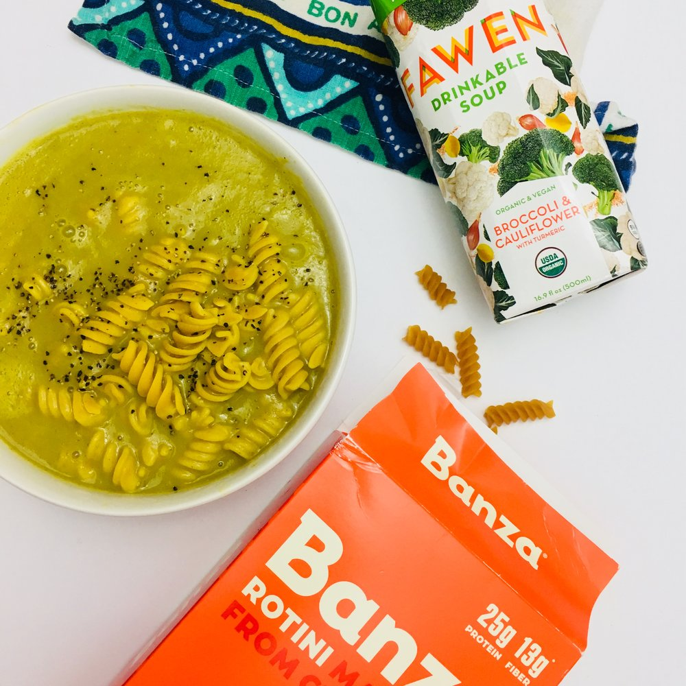 Opt for post workout soup to replenish electrolytes + warm the body.