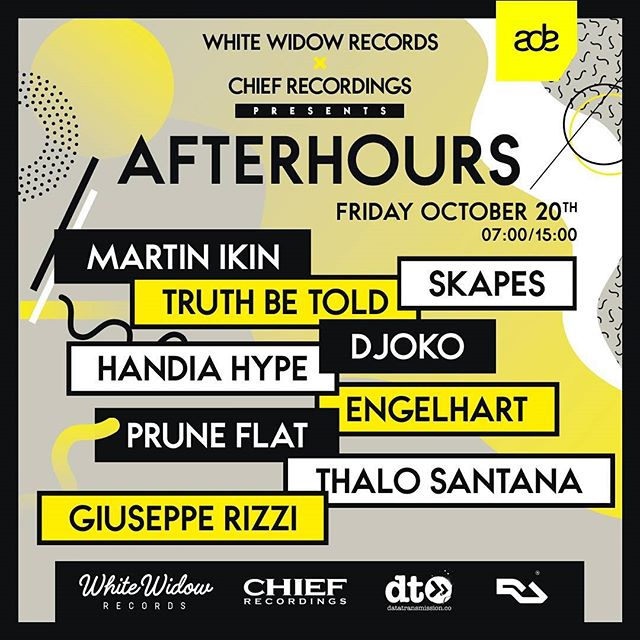 ADE is almost there! Are you guys ready? Join our afterhours event with a massive line-up  For more info and tickets : https://www.facebook.com/events/516312922040734/  #amsterdamdanceevent #ade2017 #chiefrecordings #whitewidowrecords #techhouse #housemusic #oosterbar #housemusic #Amsterdam
