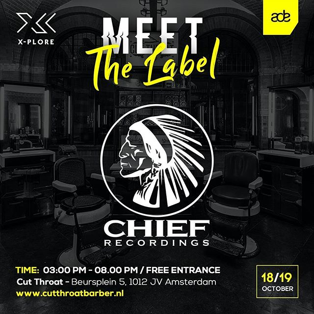 It's time for ADE again! Join us for the Meet the Labels event. Chief is joined by White Widow Records, Audio Rehab and Throne Room Records.  Come visit the masterclasses, demo sessions and interview panels. Stay for the after party with a great line-up. More info check the following links: https://www.facebook.com/events/295258914286304/  After party : https://www.facebook.com/events/1552631491463333/?ti=cl