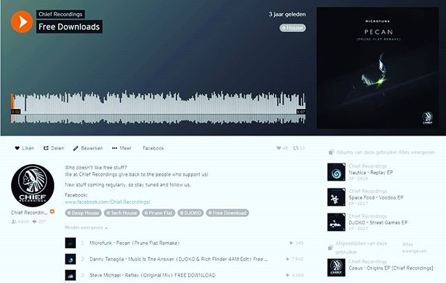 Did you see our free downloads?  Head over to soundcloud.com/chief-recordings  Free music by @djokocologne, @richpinder_, @steve_michael_music and @pruneflat #chiefrecordings #freemusic #housemusic #techhouse  #soundcloud #techno #freedownload