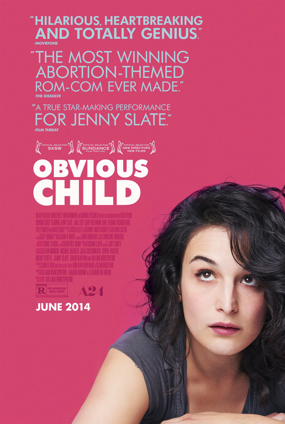 Jenny Slate - Obvious Child Poster