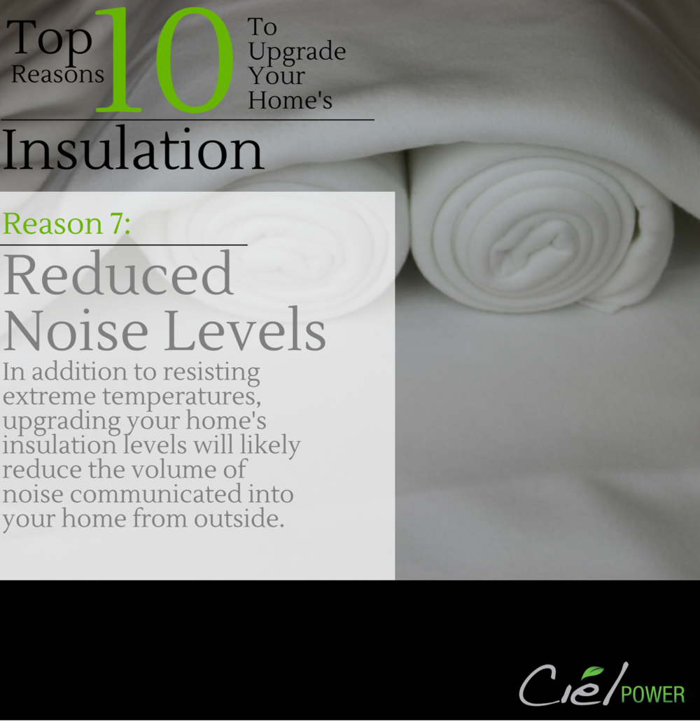 Top 10 Reasons To Upgrade Your Home's Insulation Levels