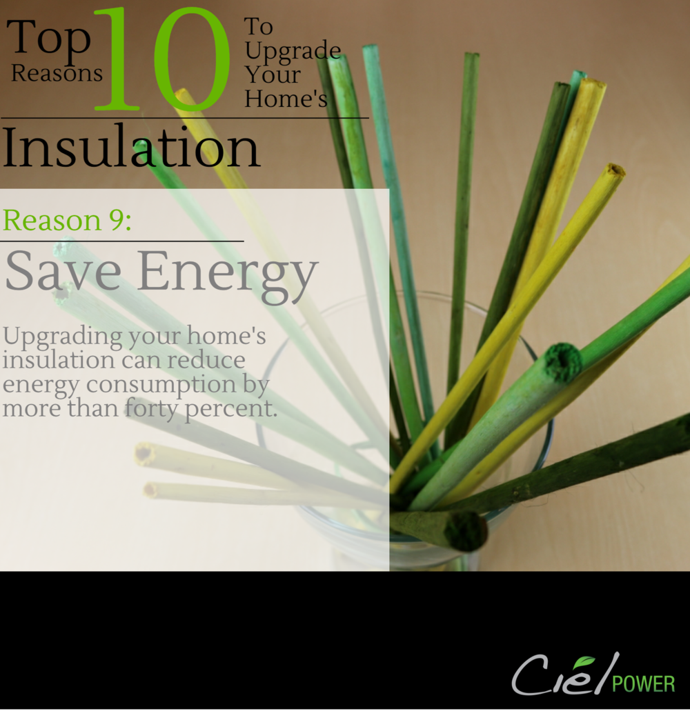Top Ten Reasons To Upgrade Your Home's Insulation Levels