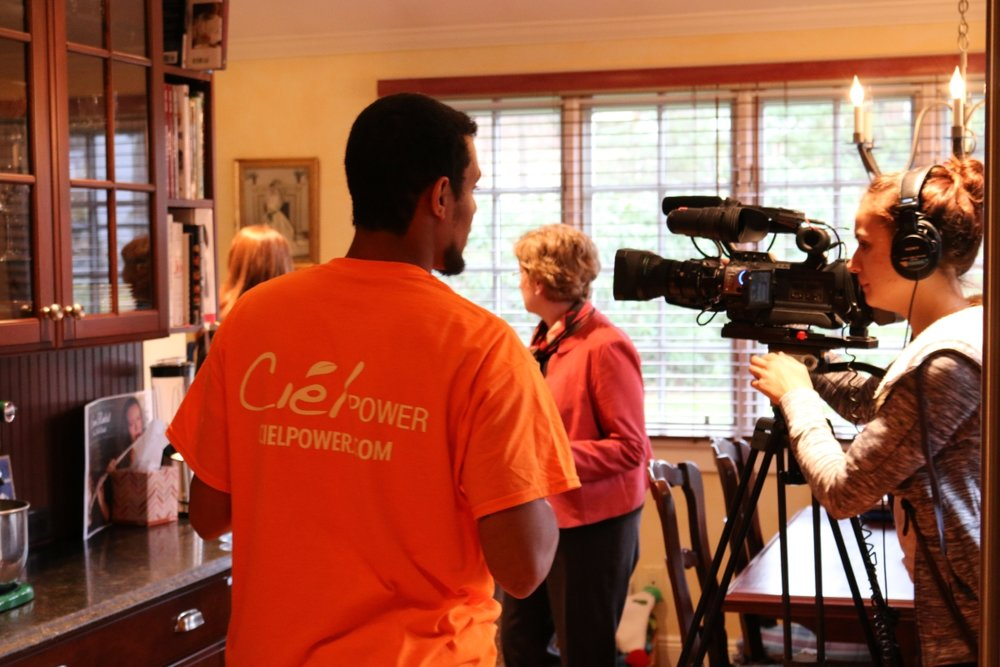 City of Summit Mayor Nora Radest undergoes a Home Energy Assessment at her home in Summit, New Jersey.