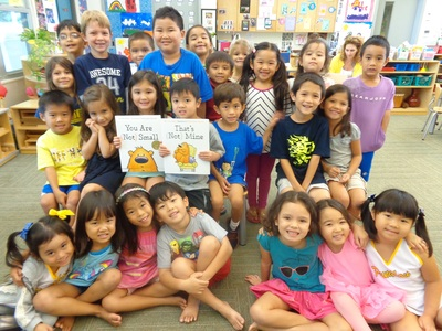 Kindergarteners in Honolulu.