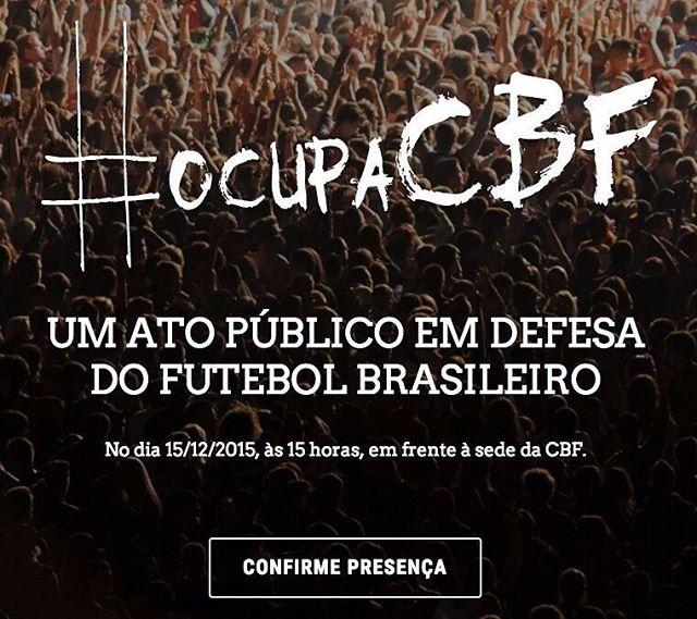 Amanhã, no Rio.  #OcupaCBF Link do evento na bio.