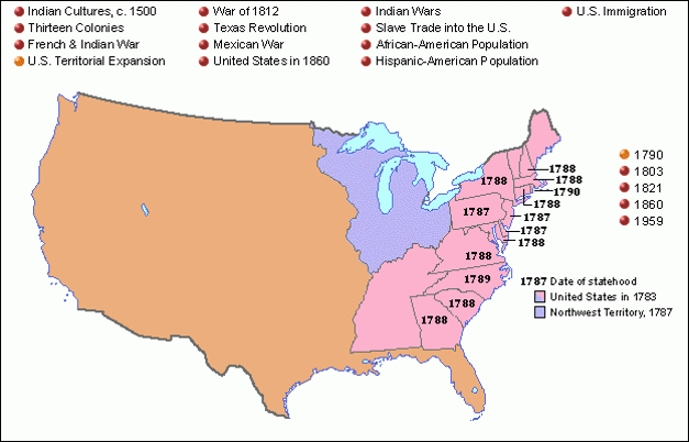 The United States in 1790