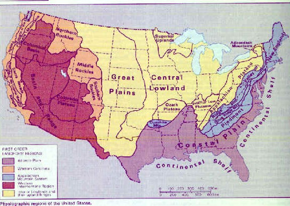 the basic geography of the continental 48
