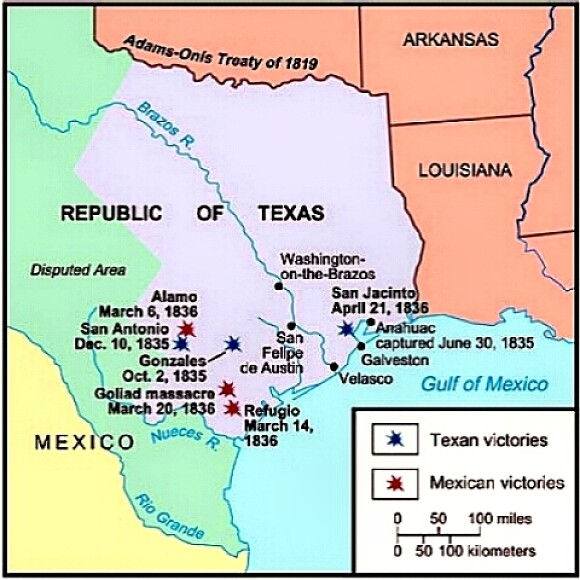 The battles of the Texas Revolution, 1836