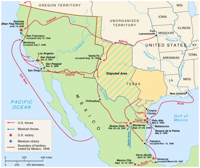 The Mexican-American War of 1848
