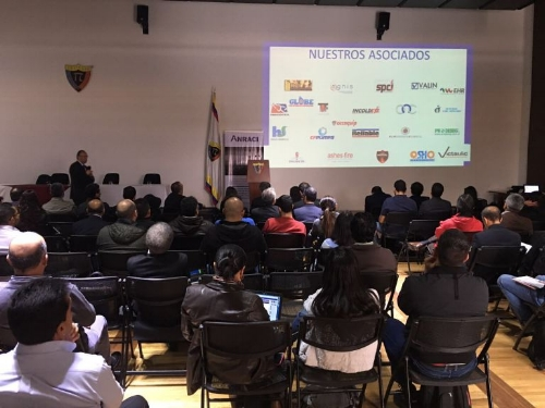 Attendees at JULY 28th ANRACI-COLOMBIA CONFERENCE in BOGOTA