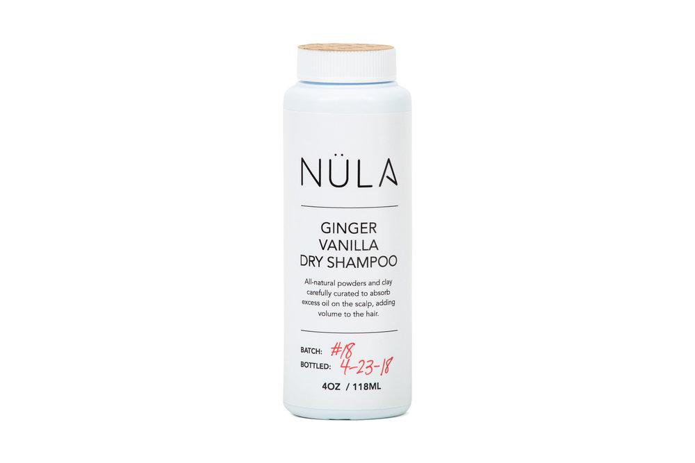 Ginger Vanilla Dry Shampoo For Light Hair Nula