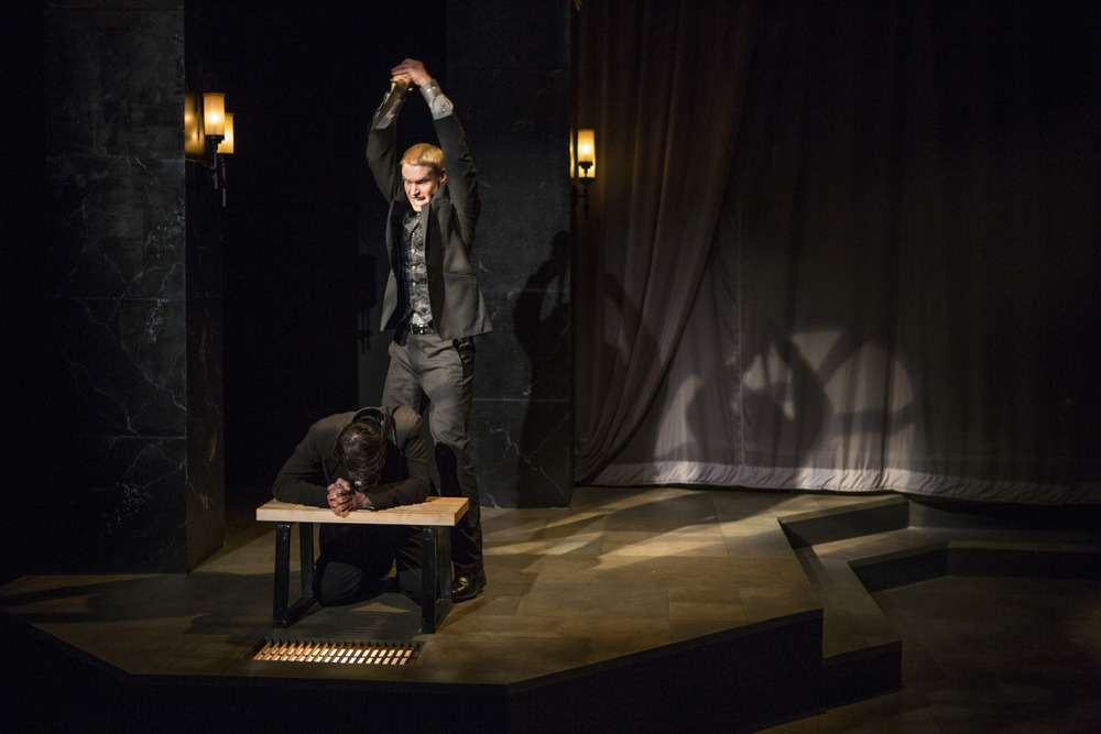 Grant Goodman and Troy Schremmer in Hamlet (2014). Photo by Beth Hall.