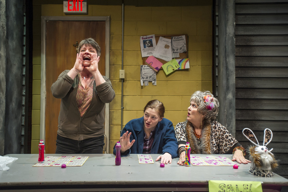 Lauren Halyard, Rebecca Harris, and Shirley Hughes in Good People (2014). Photo by Beth Hall.