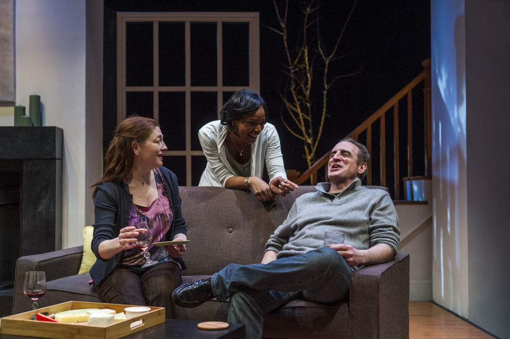 Rebecca Harris, Margaret Odette, and Sean Patrick Reilly in Good People (2014). Photo by Beth Hall.
