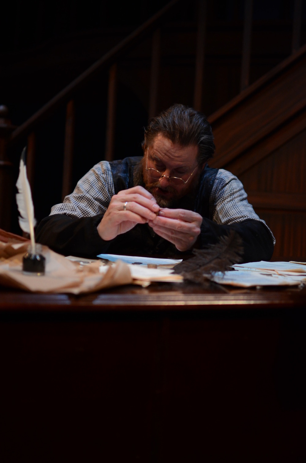 Jeffrey Baumgartner in A Christmas Carol (2013). Bettencourt Chase Photography.