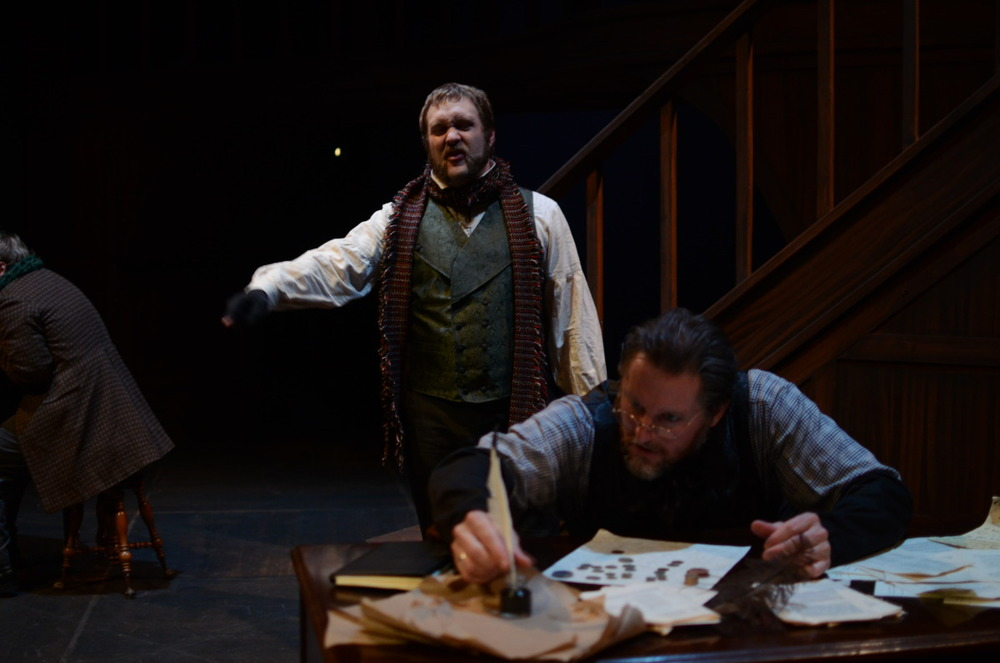Bryce Kemph and Jeffrey Baumgartner in A Christmas Carol (2013). Bettencourt Chase Photography.