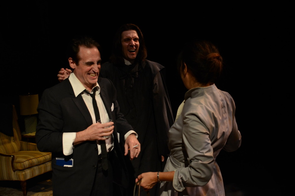 Sean Patrick Reilly, Steven Marzolf, and Amy Herzberg in The Spiritualist (2013). Bettencourt Chase Photography.