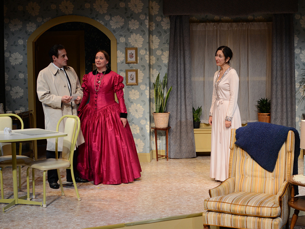 Sean Patrick Reilly, Kathey Logelin, and Amy Herzberg in The Spiritualist (2013). Bettencourt Chase Photography.
