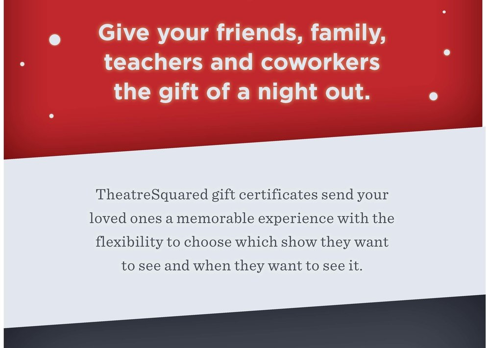 Reserve your gift of remarkable live theatre, call 479.443.5600 or checkout below,or in person at the box office in Walton Arts Center's Nadine Baum Studio