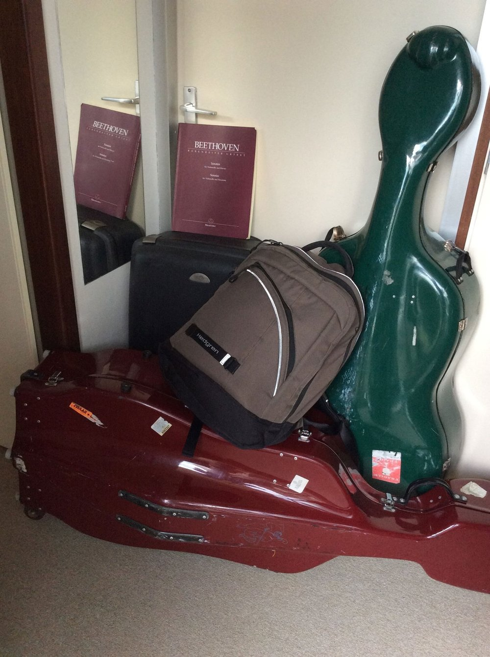 My luggage for the concert trip to Bogotá in April 2015.