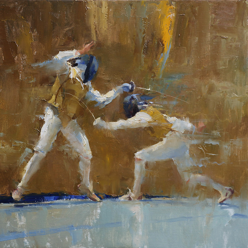 """Balestra"" 30"" x 30"" oil  Highlands Art Gallery   Won both the Artist Choice Award and the Masters Award of Excellence at the 16th Annual American Impressionist Society Exhibition. SOLD"