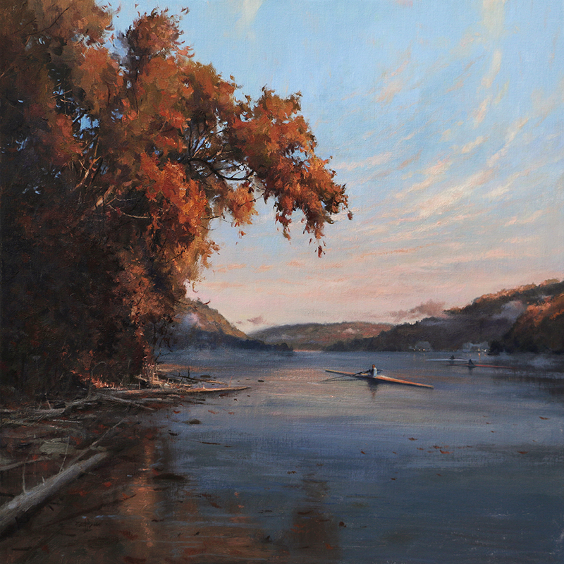 """Last of the Season"" 30"" x 30"" oil"