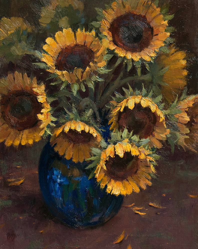"""A Vase of Sunshine"" 20"" x 16"" oil  Highlands Art Gallery   SOLD"