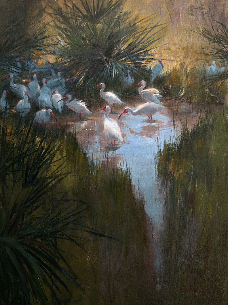 """A Welcomed Refuge"" 24"" x 18"" oil   Helena Fox Fine Art"
