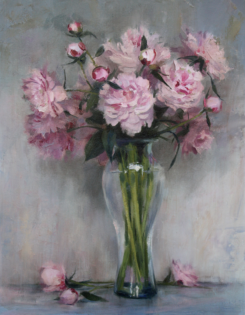 """Pink Bouquet"" 20"" x 16"" oil   Helena Fox Fine Art    SOLD"