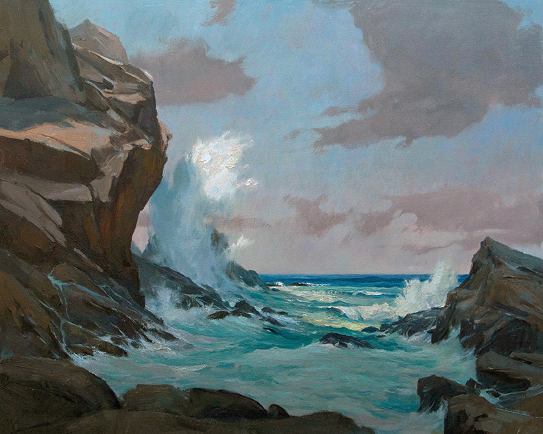 """The Weltering Sea"" 24"" x 30"" oil   Highlands Art Gallery"