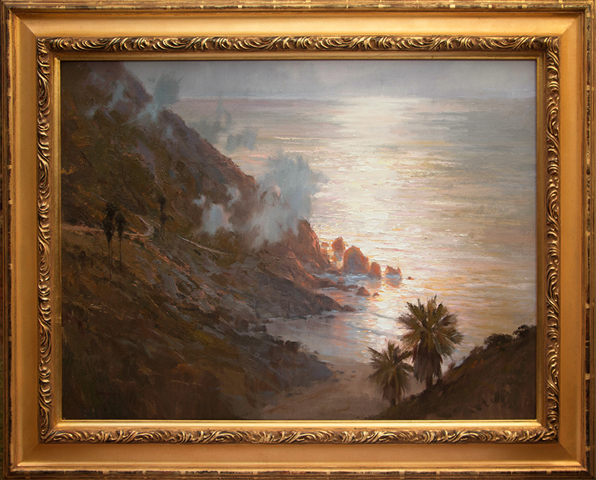 """Coastal Evening"" 30"" x 40"" oil  Highlands Art Gallery"