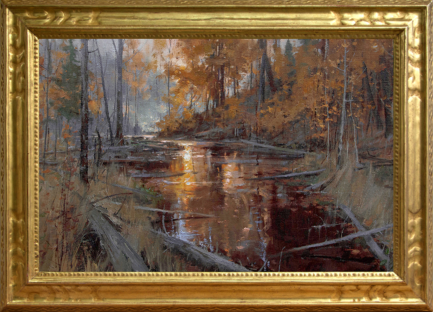 """The Wilds of Aquetong Creek"" 20"" x 30"" oil  Highlands Art Gallery"