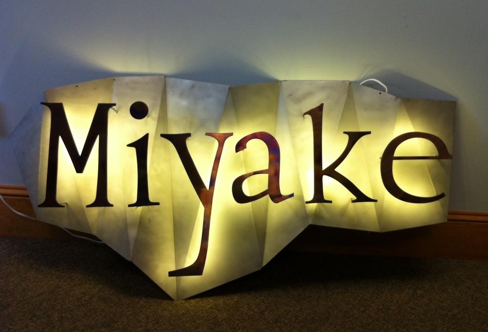 Miyake Fore St. Sign