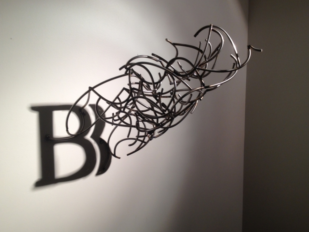 Brus Bros. Logo   |   2012   |   Stainless Steel, Shadow