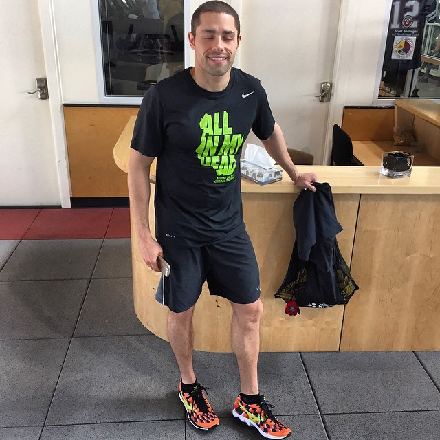 "Awesome to see USA Triathlon coach Daniel Viera rocking the ""All in my Head"" @Nike gear this morning #allinmyhead #Nike #neuroscience #brain #triathlon learn more about Patrick Stein's story here: www.allinmyhead.com"