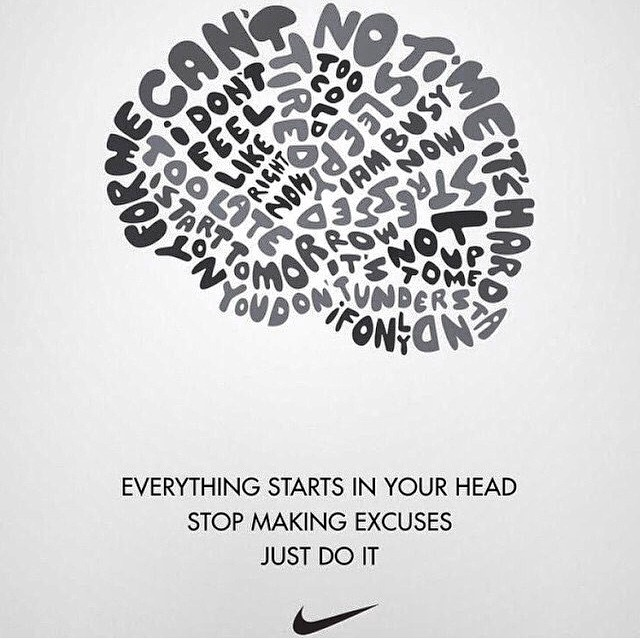 """Everything starts in your head"" - @nike #justdoit #allinmyhead #mentalstrength allinmyhead.com"