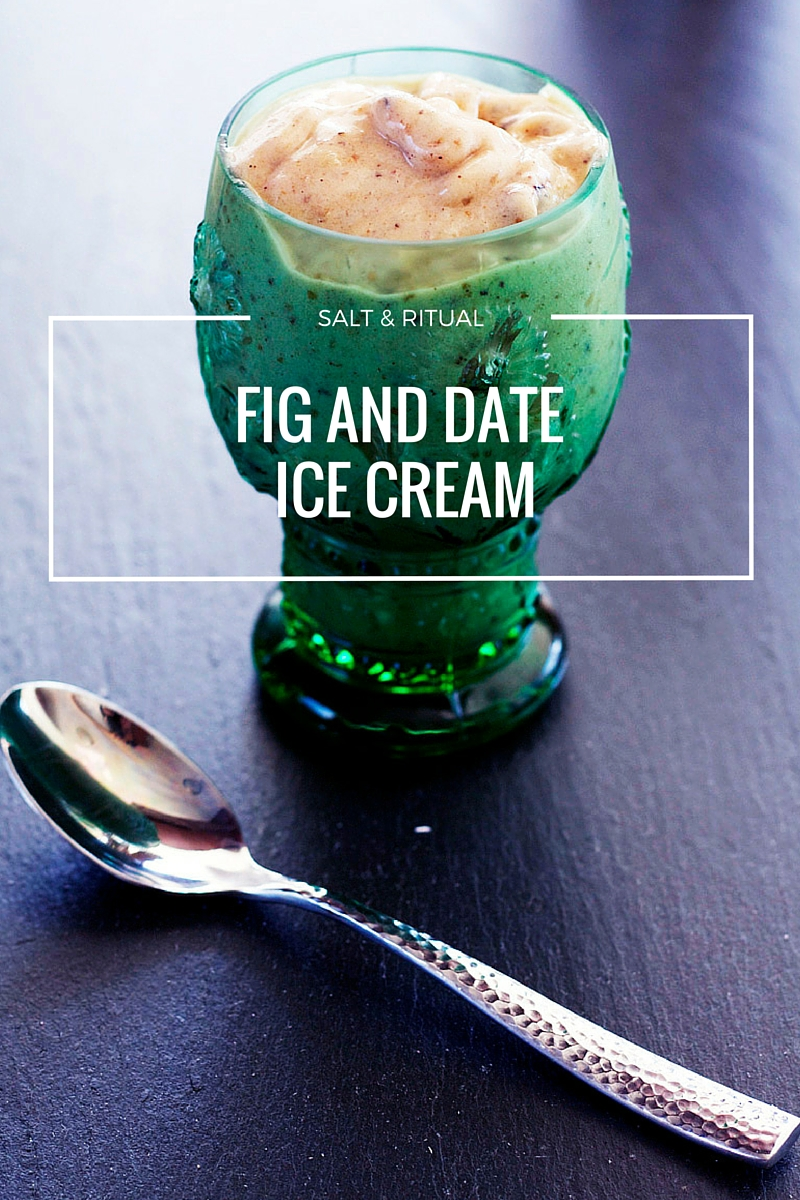 Banana, Fig and Date Ice Cream. I made this the other day and it is so so good. Her recipe is super easy. Literally just dates, figs and bananas plus some other goodies that make it taste delicious. Made it for breakfast. Great healthy substitute for a smoothie in the morning. Plus it's vegan, love, love, love!