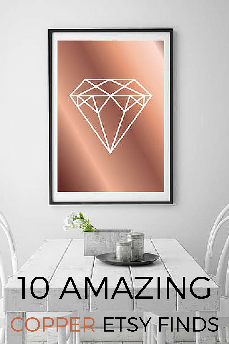 10 Amazing Etsy Finds for Copper Lovers. I love copper accessories and there are SO many cute items that  she has listed here. LOVE the look of copper. Especially like that everything she has featured is from Etsy. Want it all!