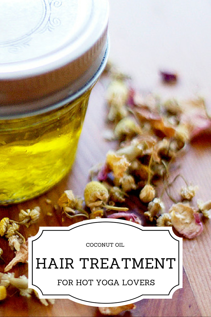Coconut Oil Hair Treatment for Hot Yoga Lovers. If you do hot yoga regularly, definitely check out this coconut oil treatment to protect your hair. Her recipe is super simple and since I've been using it my hair feels way less dried out.