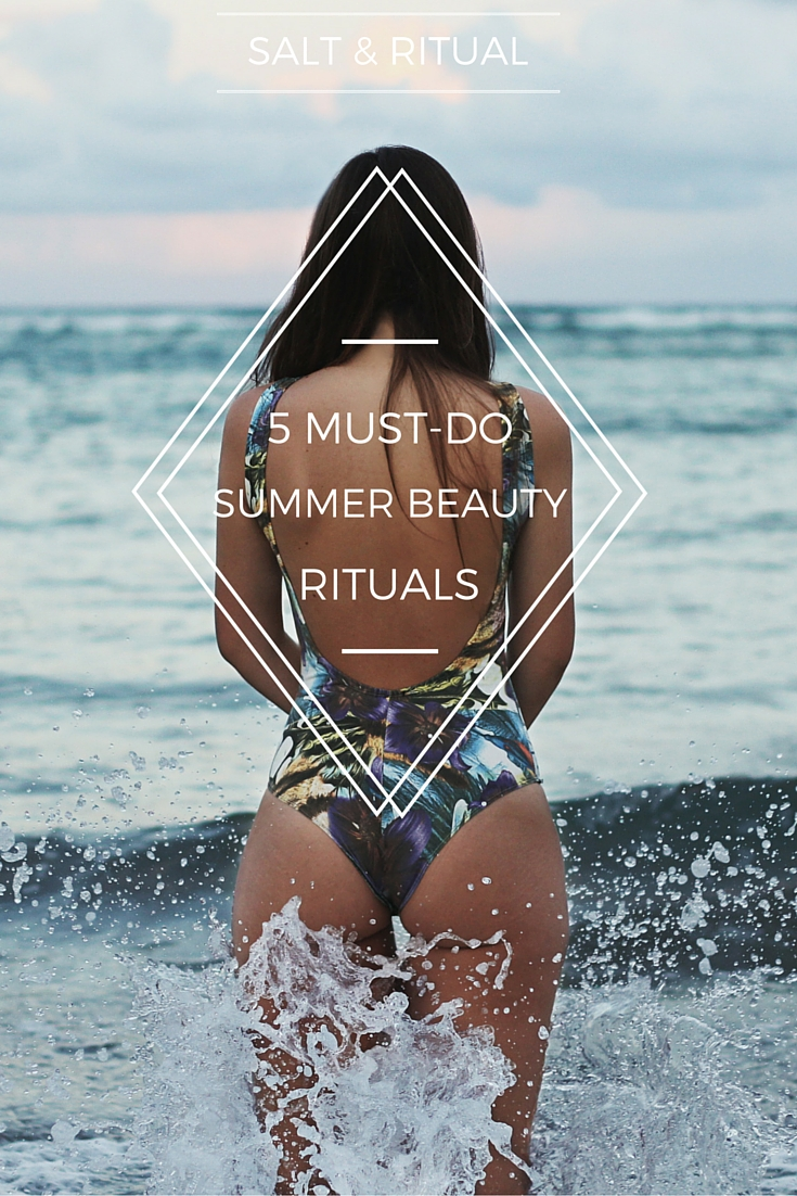 5 Must-Do Summer Rituals for Glowing Skin. Love these summer rituals based in natural beauty. Super easy, definitely doing these this summer. So inspiring!
