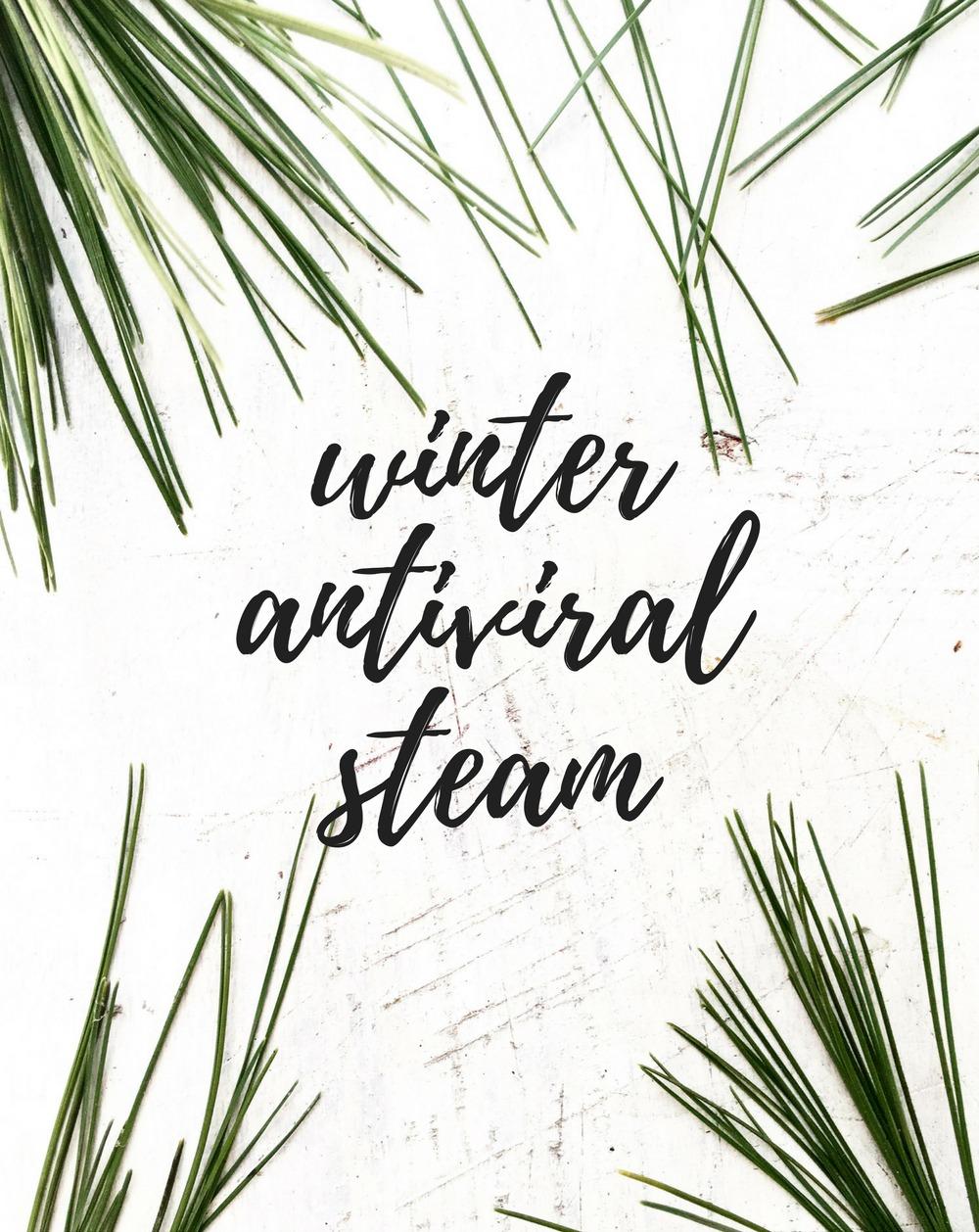 Essential Oil Antiviral Steam Blend and Chest Rub