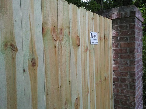 Privacy Fence Our Privacy fencing is great for providing that private setting you have always wanted. We also have many styles of privacy fence available from Table Top privacy to your standard dog eared privacy. Find out more about our Privacy Fence.