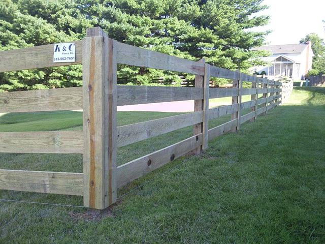 Farm Fence Our farm fence comes in many types of material including wood and vinyl (PVC). Farm fencing is also great for animals or to give your home a unique rustic look.   Find out more about our Farm Fence.